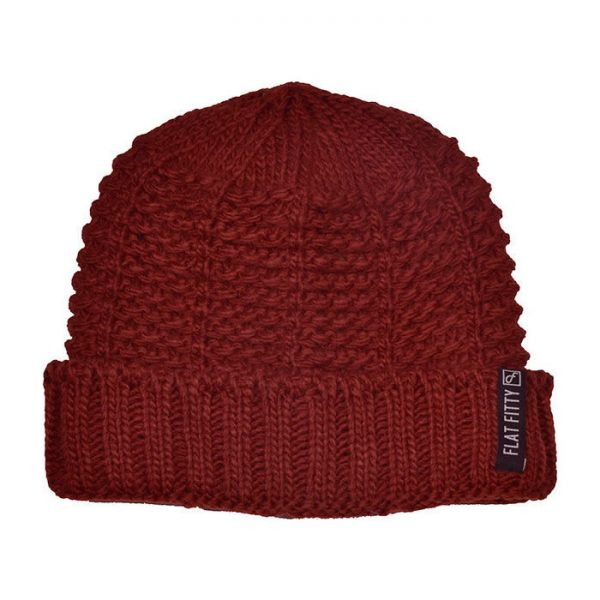 Flat Fitty | Air FTFY Cuff Maroon Beanie