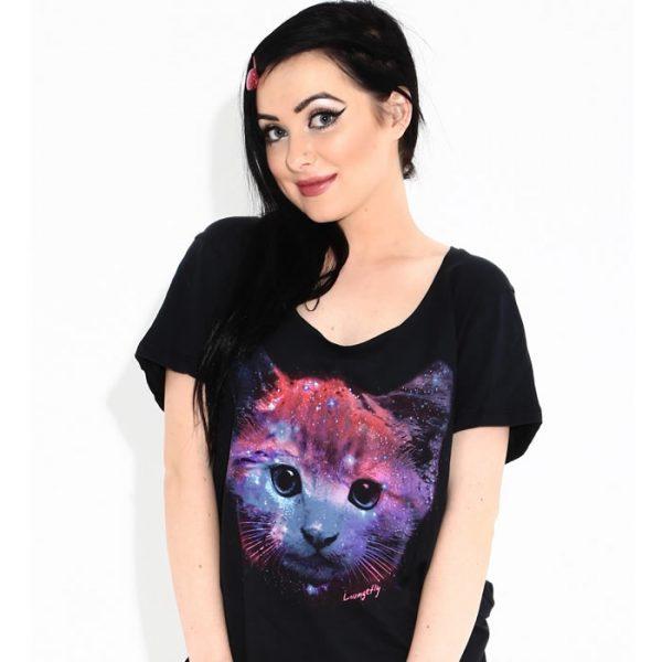 Space Kitty Dolman Tee Shirt