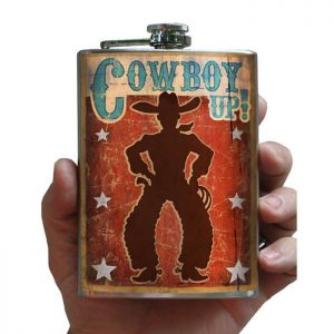 Cowboy Up! flask