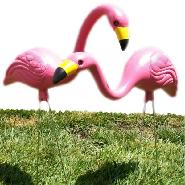 Pink flamingo Set of 2