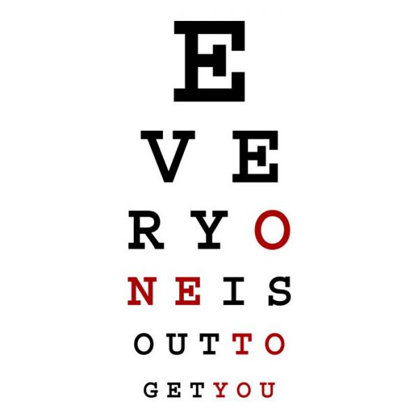 Subliminal Eye Chart Tee Shirt