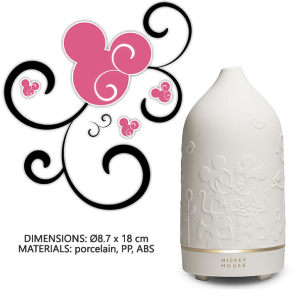 CASA Ultrasonic Aroma Diffuser Mickey Mouse White