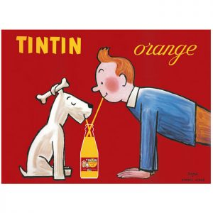 PRINT | TINTIN ORANGE SODA