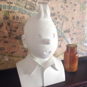 Tintin Bust Statue