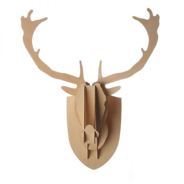 Wooden Deer Head (Plywood) – Small