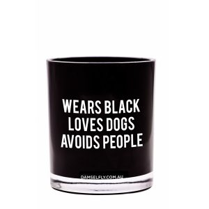 WEARS BLACK, AVOIDS PEOPLE - LRG CANDLE
