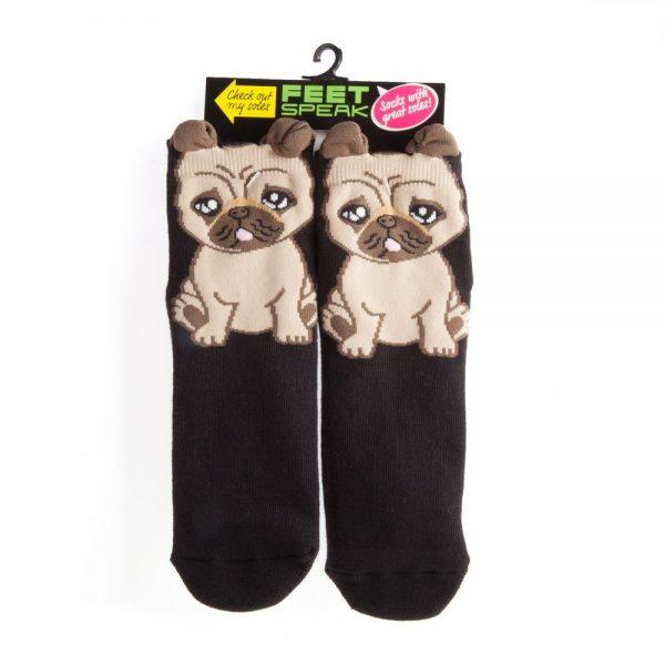 Feet Speak Pug Socks