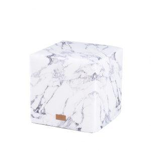 Woouf Ottoman – Marble White