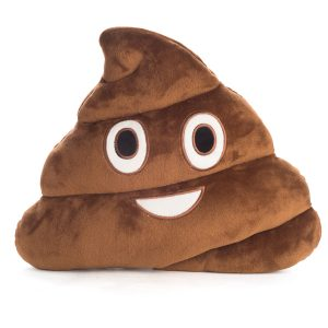 Smiling Poo emoji Velour Cushion