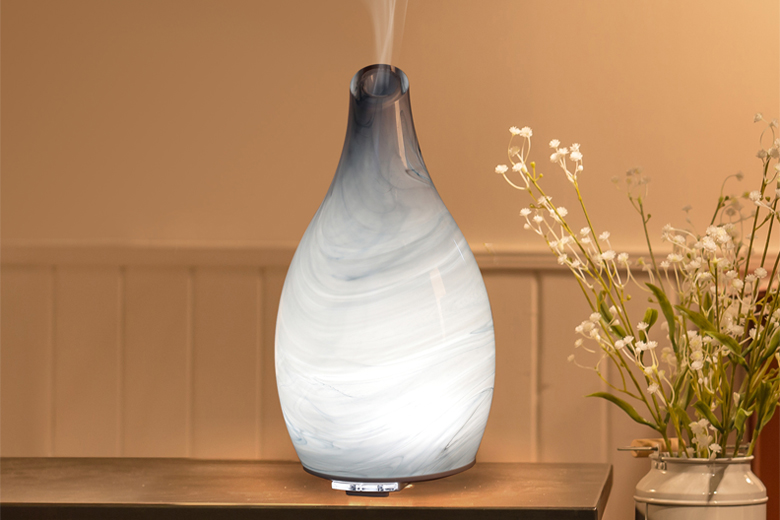 Aroma Art Glass Blue Ultrasonic Aroma Diffuser Hart Amp Heim