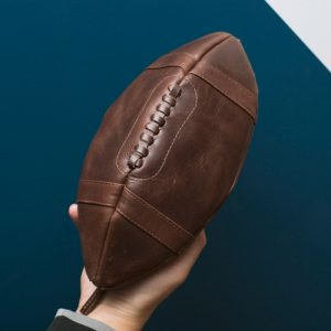 American Football Wash Bag Leather