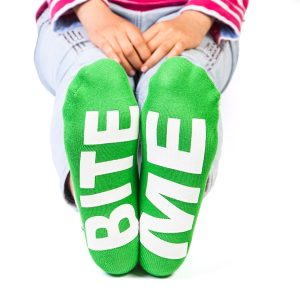 Feet Speak BITE ME Croc Socks