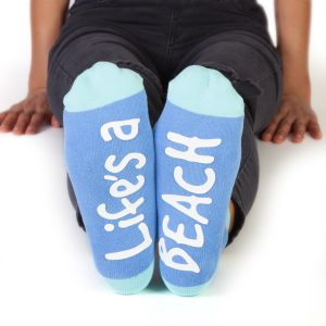 Feet Speak Life's A Beach Mermaid Socks