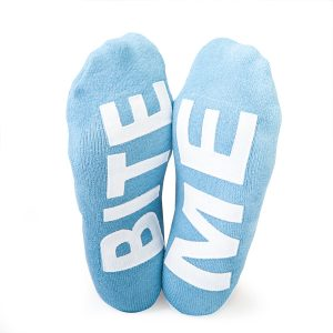 BITE ME NOVELTY SHARK SOCKS