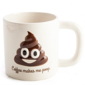 Coffee Makes Me Poop Koolface Mug - Emoji Poo