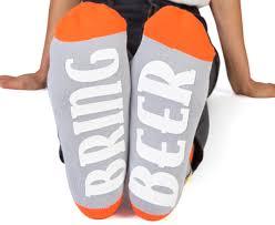 """Feet Speak """"BRING BEER"""" Ankle Socks"""