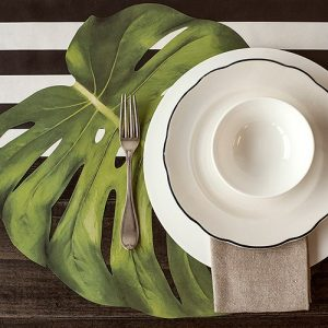 Monstera Tropical Placemats and Runner Bundle