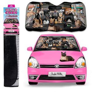 Archie McPhee Auto Sunshade, Car Full Of Cats