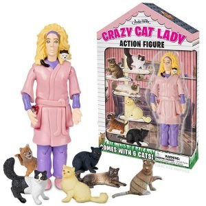 Archie McPhee – Crazy Cat Lady Action Figure