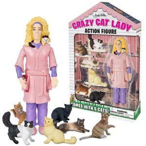 Archie McPhee – Crazy Cat Lady Action Figure