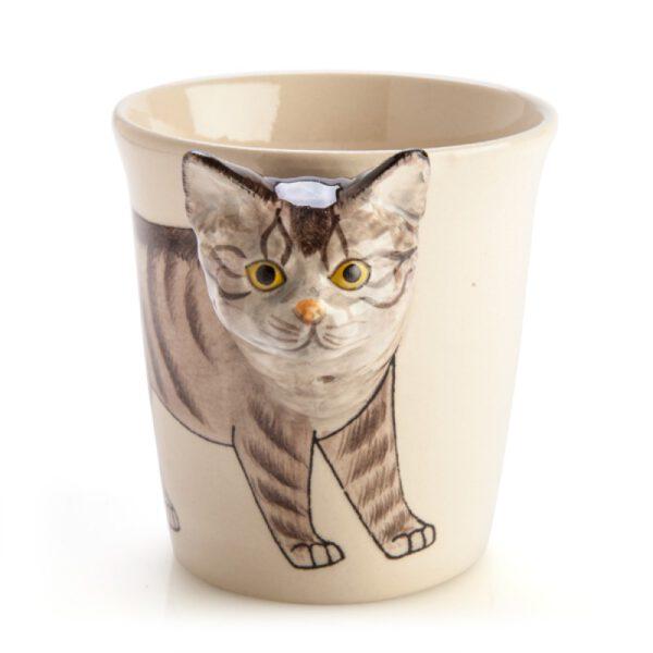 Tabby Cat 3D Handle Mug