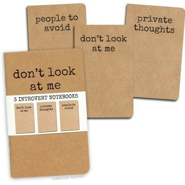 Archie McPhee – Set Of 3 Introvert Notebooks